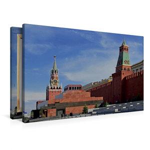 Premium Textil-Leinwand 90 cm x 60 cm quer Roter Platz mit Lenin
