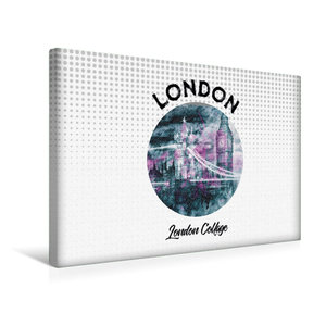 Premium Textil-Leinwand 45 cm x 30 cm quer Graphic-Art LONDON Lo
