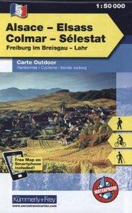 KuF Elsass / Vogesen Outdoorkarte 05 Elsass - Colmar - Selestat
