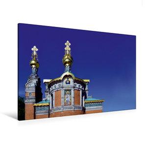 Premium Textil-Leinwand 120 cm x 80 cm quer Russische Kapelle