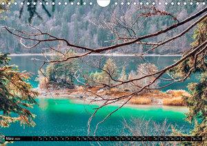 Türkisblaue Seen (Wandkalender 2020 DIN A4 quer)