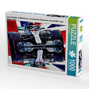CALVENDO Puzzle Lewis Hamilton, Großbritannien, ist mehrfacher W