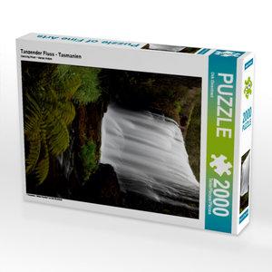 CALVENDO Puzzle Tanzender Fluss - Tasmanien 2000 Teile Lege-Größ