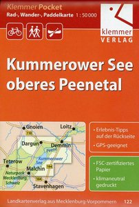Klemmer Pocket Rad-, Wander- und Paddelkarte Kummerower See - ob