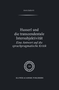 Husserl und Die Transzendentale Intersubjektivität