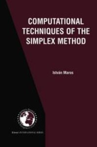 Computational Techniques of the Simplex Method