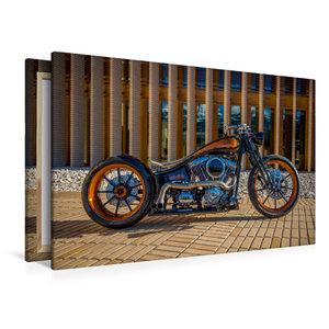 Premium Textil-Leinwand 120 cm x 80 cm quer HD 1800 ccm Black Pe