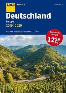 ADAC Reiseatlas Deutschland, Europa 2019/2020 1:200 000
