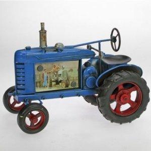 Bilderrahmen Traktor blau