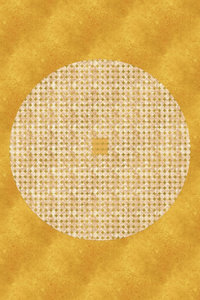 Premium Textil-Leinwand 60 cm x 90 cm hoch Goldenes Mandala