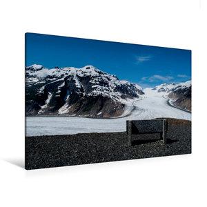 Premium Textil-Leinwand 120 cm x 80 cm quer Salmon Glacier