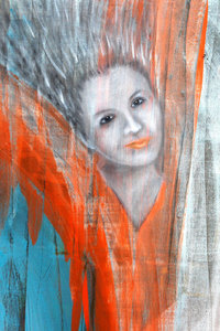 Premium Textil-Leinwand 50 cm x 75 cm hoch Gefallener Engel