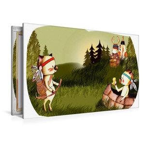 Premium Textil-Leinwand 120 cm x 80 cm quer Indianerschweinchen