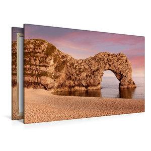 Premium Textil-Leinwand 120 cm x 80 cm quer Durdle Door Dorset