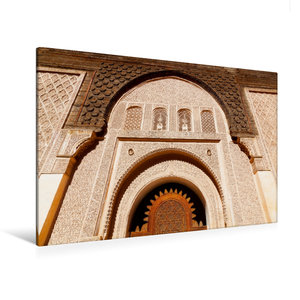 Premium Textil-Leinwand 120 cm x 80 cm quer Ben Youssef Medersa