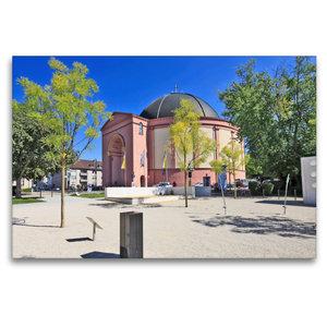 Premium Textil-Leinwand 120 cm x 80 cm quer Ludwigskirche
