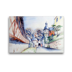 Premium Textil-Leinwand 45 cm x 30 cm quer An der Rochsburg