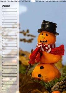 Birthday Calendar Snowman of the Month (Wall Calendar perpetual