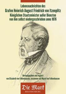Lebensnachrichten des Grafen Heinrich August Friedrich von Itzen
