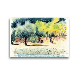Premium Textil-Leinwand 45 cm x 30 cm quer Strand von Cavo