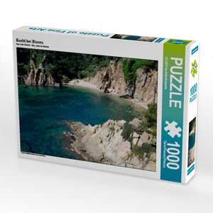 Bucht bei Blanes 1000 Teile Puzzle quer