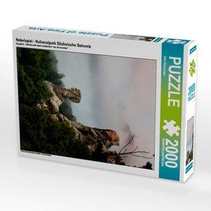 CALVENDO Puzzle Nebelspiel - Nationalpark Sächsische Schweiz 200