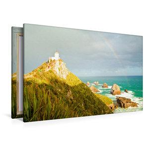 Premium Textil-Leinwand 120 cm x 80 cm quer Nugget Point Lightho