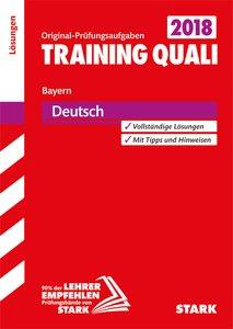 Training Quali Bayern - Deutsch Lösungsheft