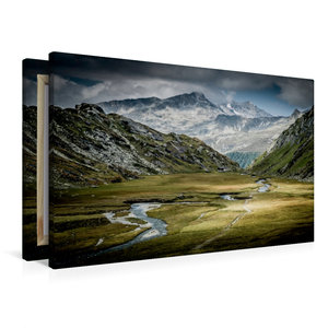 Premium Textil-Leinwand 90 cm x 60 cm quer Röttal