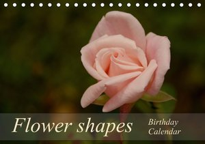 Flower shapes / Birthday Calendar / UK-Version (Table Calendar p