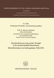 Demokratisierung und sozialer Wandel in der Bundesrepublik Deuts