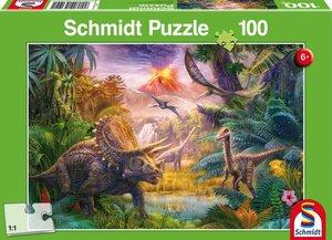 Das Tal der Dinosaurier. Puzzle 100 Teile