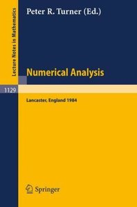 Numerical Analysis, Lancaster 1984