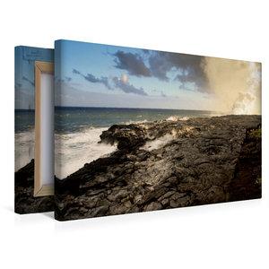 Premium Textil-Leinwand 45 cm x 30 cm quer Frische Lavaküste in