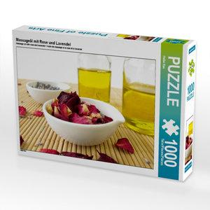 Massageöl mit Rose und Lavendel 1000 Teile Puzzle quer