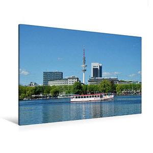 Premium Textil-Leinwand 120 cm x 80 cm quer Außenalster