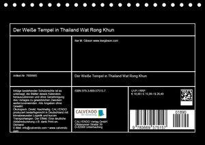Der Weiße Tempel in Thailand Wat Rong Khun (Tischkalender 2019 D