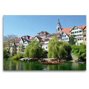 Premium Textil-Leinwand 120 cm x 80 cm quer Tübingen