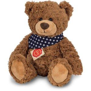 Teddy braun mit Tuch, ca. 30cm
