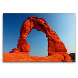 Premium Textil-Leinwand 120 cm x 80 cm quer Delicate Arch, Arche