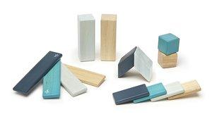 Magnetisches Holzset blau, 14 Teile