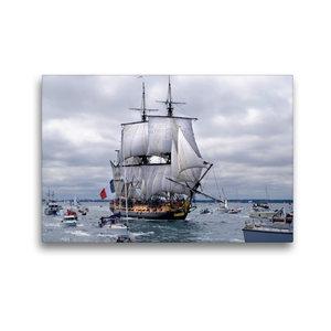 Premium Textil-Leinwand 45 cm x 30 cm quer Het fregat Hermione i