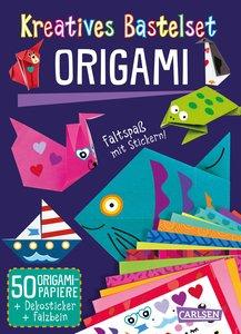Kreatives Bastelset: Origami: Set mit 50 Faltbögen, Anleitungsbu