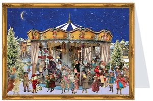 "Postkarten-Adventskalender \""Karusell\"""