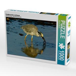 Krabbenreiher mit Beute 1000 Teile Puzzle quer