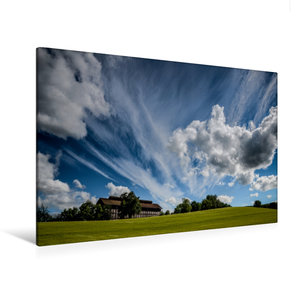 Premium Textil-Leinwand 120 cm x 80 cm quer Wolken ziehen über d