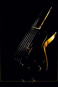 Premium Textil-Leinwand 50 cm x 75 cm hoch Gitarre Traum
