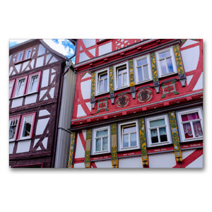 Premium Textil-Leinwand 90 cm x 60 cm quer Oberstadt