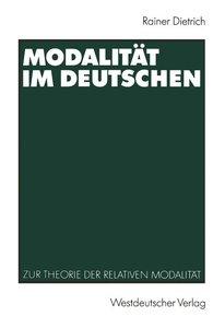 Modalität im Deutschen
