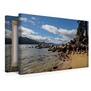 Premium Textil-Leinwand 45 cm x 30 cm quer Sand Harbor Beach / L
